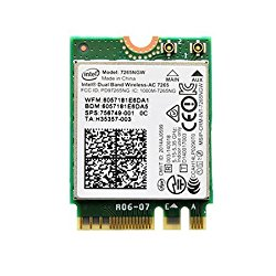 Authentic 7265NGW Intel® Dual Band Wireless-AC 7265 802.11ac, Dual Band, 2×2 Wi-Fi + Bluetooth 4.0* – Ships from California