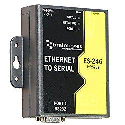 Brainboxes Device server – 10Mb LAN, 100Mb LAN, RS-232 (ES-246)
