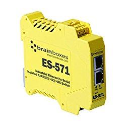 Brainboxes – Device Server – 10MB LAN, 100MB LAN, RS-232, RS-422, RS-485 (ES-571)
