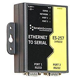 Brainboxes – Device Server – 2 Ports – 10MB LAN, 100MB LAN, RS-232 (ES-257)