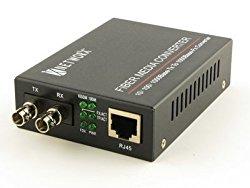 Gigabit Ethernet Fiber Media Converter – UTP to 1000Base-SX – ST Multimode, 550m, 850nm