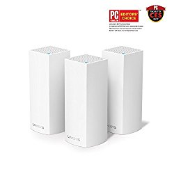 Linksys Velop Tri-band AC6600 Whole Home WiFi Mesh System Works with Amazon Alexa, 3-Pack (WHW0303)