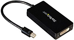 StarTech.com Travel A/V Adapter: 3-in-1 Mini DisplayPort to HDMI Adapter – Mini DisplayPort to VGA – mDP to DVI Converter – 1080p