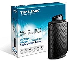 TP-Link N300 DOCSIS 3.0 (8×4) Wireless Wi-Fi Cable Modem Router, Certified for Comcast XFINITY, Time Warner Cable, Cox Communications, Charter, Spectrum (TC-W7960)