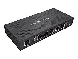 Ubiquiti Edgerouter PoE – Router – Desktop, Wall-Mountable – Black (ERPOE-5)