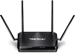 TRENDnet AC2600 MU-MIMO, Wireless Gigabit Router with StreamBoost, and Beamforming Antennas ideal for extreme 4K streaming and Lag Free gaming, TEW-827DRU