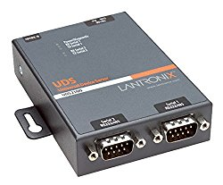Lantronix UDS2100 Device Server for serial to Ethernet conversion – Convert from RS-232, RS-485, RS-422. DB-9, 2-wire, 4-wire, serial to RJ-45 10/100 Mbs Fast Ethernet; Wall mountable, Rail mountable – UD2100001-01