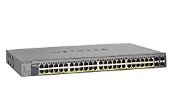 NETGEAR ProSAFE GS752TP 48 Port Gigabit PoE Smart Managed Switch with 4 SFP GbE Fiber Ports and 8 PoE+ Ports 384w (GS752TP-100NAS)
