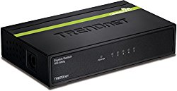 TRENDnet 5-Port Unmanaged Gigabit GREENnet Desktop Metal Housing Switch, TEG-S50g