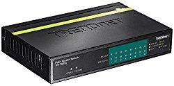 TRENDnet 8-Port Gigabit GREENnet PoE+ Switch, 8 x Gigabit PoE Ports, 123 W PoE Power Budget, 16 Gbps Switching Capacity, TPE-TG80g