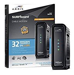 ARRIS SURFboard SB6190 BLK DOCSIS 3.0 Cable Modem – Retail Packaging – Black