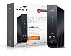 ARRIS SURFboard SBG7580AC-McAfee DOCSIS 3.0 Cable Modem / AC1750 Wi-Fi Router with FREE Secure Home Internet by McAfee – Retail Packaging, Black