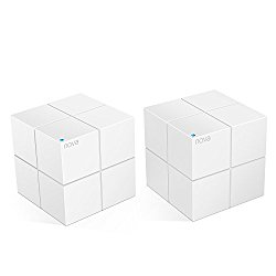 Tenda Nova MW6(2-pack) Whole Home Mesh WiFi System Coverage up to 4,000 sq. ft, 2-4 bedrooms, Plug and Play, Works with Alexa,Parental Controls,2 Gigabit Ports/Unit