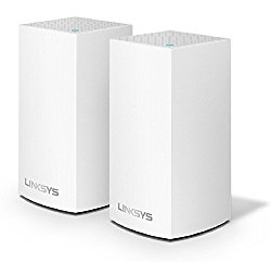 Linksys Velop Whole Home WiFi Intelligent Mesh System, 2-Pack/2-4 bedrooms/medium multi-story & patio, Easy Setup, Maximize WiFi Range & Speed for all your devices, Works with Alexa