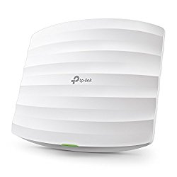TP-Link EAP225 V3 Wireless MU-MIMO Gigabit Ceiling Mount Access Point, Supports 802.3af PoE and Passive PoE(Injector Included), AC1350