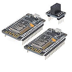 Makerfocus 2pcs ESP8266 Module ESP-12E NodeMcu LUA WiFi Internet New Version Development Board