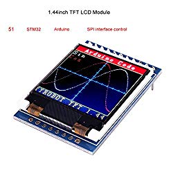 MakerFocus TFT LCD Screen 1.44 inches TFT LCD Module, 128×128 SPI, Picture Graphic Color Screen, 51 STM32 Arduino Routines to Replace 5110 OLED 5V for Arduino
