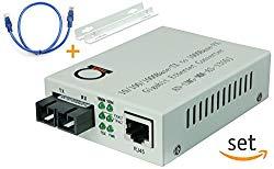 Multimode Gigabit Fiber Media Converter – Built-In Fiber Module 2 km (1.24 miles) SC – to UTP Cat5e Cat6 10/100/1000 RJ-45 – Auto Sensing Gigabit or Fast Ethernet Speed – Jumbo Frame – LLF Support