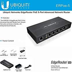 Ubiquiti ERPoe-5 EdgeRouter PoE 48V 5 Gigabit ports 5×10/100/1000 EdgeOS Router