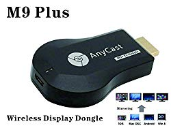 WiFi Wireless Display Dongle 1080P Mini Receiver Sharing HD Video from Projectors Cell Phones Tablet PC Support Airplay/ Chromecast/Chromecast Tv/Miracast/Miracast Dongle for Tv