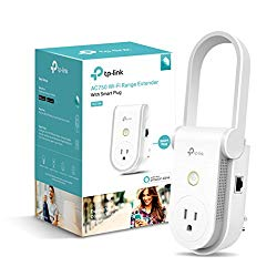 Kasa AC750 Wi-Fi Range Extender Smart Plug by TP-Link – Fast AC750 Wi-Fi Extender/Repeater with Built-In Smart Plug, No Hub Required, Works With Alexa and Google Assistant (RE270K)