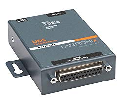 Lantronix UDS1100 Device Server for serial to Ethernet conversion – Convert from RS-232, RS-485, RS-422. DB-25, 2-wire, 4-wire, serial to RJ-45 10/100 Mbs Fast Ethernet; Wall mountable, Rail mountable – UD1100IA2-01