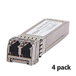 10Gtek for Cisco SFP-10G-SR, 10Gb/s SFP+ Transceiver Module,10GBASE-SR, MMF, 850nm, 300-meter, Pack of 4