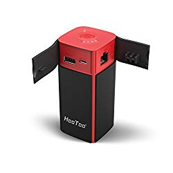 HooToo Wireless Travel Router, FileHub, 10400mAh External Battery, USB Port, High Performance Travel Charger – TripMate Titan 300Mbps (Not a Hotspot)
