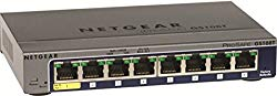 NETGEAR GS108T-200NAS 8-Port Gigabit Smart Managed Pro Switch, PoE/PoE+, L2, ProSAFE Lifetime Protection (GS108Tv2)