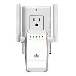 WiFi Range Extender/300Mbps Mini WiFi Extender/360 Degree Full Coverage/Wireless Repeater/Internet Signal Booster with External Antennas (White)