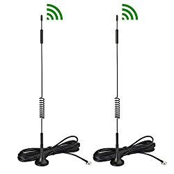 Bingfu 4G LTE 7dBi Magnetic Base External TS9 Antenna (2-Pack) Compatible with Verizon AT&T T-Mobile Sprint Netgear Huawei MiFi Mobile Hotspot Router USB Modem Jetpack AirCard AC791L AC815S AC770S