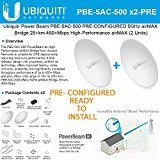 Ubiquiti PowerBeam PBE-5AC-500 2Units PRE-CONF 5GHz airMAX Bridge 25+km 450+Mbps