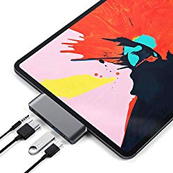 Satechi Aluminum Type-C Mobile Pro Hub Adapter with USB-C PD Charging, 4K HDMI, USB 3.0 & 3.5mm Headphone Jack – Compatible with 2018 iPad Pro, Microsoft Surface Go (Space Gray)