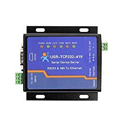 USR USR-TCP232-419 Serial Device Server RS232 RS485 to Ethernet Converter Support DTR/DSR Flow Control