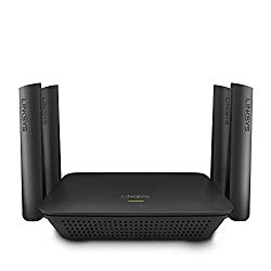 Linksys RE9000 AC3000 Max-Stream Tri-Band Wi-Fi Range Extender, Black (Renewed)