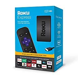 Roku Express HD Streaming Media Player 2019, Black