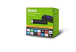 Roku Streaming Stick | Portable; Power-Packed Streaming Device with Voice Remote with Buttons for TV Power and Volume (2018)