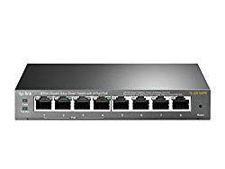 TP-Link PoE Switch Gigabit 8 Port | 4 Port PoE 55W | Easy Smart | 802.3af Compliant | Shielded Ports | Traffic Optimization | Plug and Play | Sturdy Metal (TL-SG108PE)