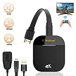 WiFi Display Dongle, FayTun 4K Wireless HDMI Display Adapter, 5G WiFi Wireless Display Receiver, iPhone iPad Laptop Android Phones Miracast Dongle for TV, Projector, Monitor, HDMI Devices