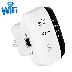 WiFi Extender, Aigital 2.4G Wireless Internet Booster for Home 300Mbps Superboost Wi-Fi Blast Range Repeater WLAN Signal Amplifier Repetidor, Easy Setup and Covering