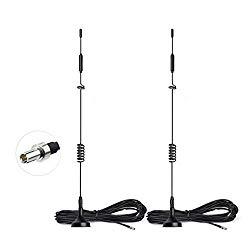 Bingfu 4G LTE 8dBi Magnetic Base MIMO TS9 Antenna 2-Pack for MiFi Mobile Hotspot Router USB Modem Dongle Verizon Jetpack 8800L 7730L AC791L 6620L Netgear LB1120 LB1121 LB2120 AT&T Nighthawk M1 MR1100