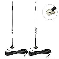 TS9 Antenna,RHsia (2 Pack) 4G LTE Antenna 7 dBi Universal Wide-Band Omni-Directional Antenna with 9.8Ft Extension Cable for MIFI,Mobile Hotpots,Nighthawk M1,Aircard,4G USB Modem,4G Router,Jetpack