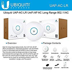 Ubiquiti UniFi UAP-AC-LR Long Range 802.11ac Access Point Gigabit PoE