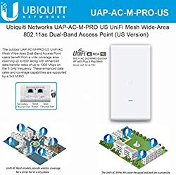 UniFi Mesh AC Pro UAP-AC-M-PRO-US 802.11AC 3×3 MIMO Outdoor Wi-Fi Access Point Wide-Area Dual-Band AP