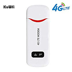 Unlocked 4G LTE USB Modem 100 Mbps Mini USB 4G Dongle Portable WiFi Hotspot Router with SIM Card Slot Support B1/B2/B4/B5/B17 for USA/CA/MX Network Band