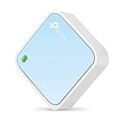 TP-Link N300 Wireless Portable Nano Travel Router – WiFi Bridge/Range Extender/Access Point/Client Modes, Mobile in Pocket(TL-WR802N)