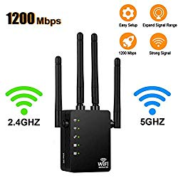 [Upgraded 2020] WiFi Range Extender – 1200Mbps WiFi Repeater Wireless Signal Booster, 2.4 & 5GHz Dual Band WiFi Extender with Gigabit Ethernet Port, Extend WiFi Signal to Smart Home & Alexa Devices
